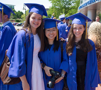 Ready to graduate:  Chloe, Amanda, and Hannah