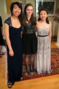 Alaina, Hannah, and Emily all dressed up
