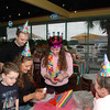 Kimberly was completely surprised by the birthday party at Skeeters.