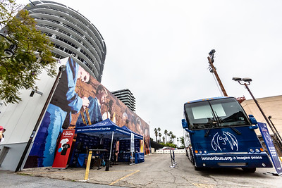 2019_07_07, Birthday, CA, Capitol Records, Los Angeles, Ringo, Exterior, Bus, Tents, Establishing