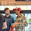Ashleigh Fox | The Sheridan Press<br /> Nick Flores, a 20 Under 40 Class of 2018 honoree, speaks with former honoree Josh Law during The Sheridan Press 20 Under 40 Happy Hour Monday, June 18, 2018.
