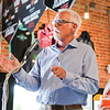 Ashleigh Fox | The Sheridan Press<br /> Forward Sheridan executive director Jay Stender speaks to the crowd during The Sheridan Press 20 Under 40 Happy Hour Monday, June 18, 2018. Forward Sheridan sponsored the event.