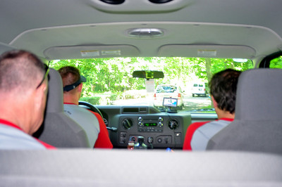 view from the back seat