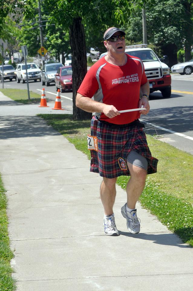 Pat finishing 1st leg