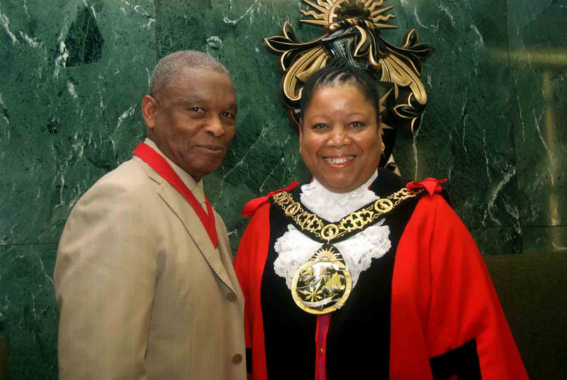 Mayor's Consort: Councillor Vernon King with the Mayor
