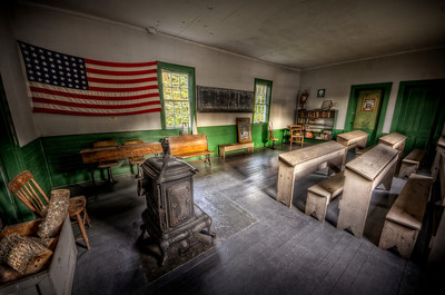 "Wareham, ""one room schoolhouse"", MA, Massachusetts, school, room, colonial, historic, history, education, ""Great Neck"", 1825, ""Wareham Historical Society"", hdr, ""tone mapped"", Pentax, K-5, ""Frank C. Grace"", ""Trig Photography"", ""Legend Trips"", paranormal, haunted, flag, benches, ""New England"" schoolhouse"