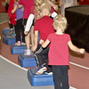 Children participating in the annual Jump Rope for Heart activity Wednesday in the NPAC at Chadron State College.