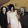 Some of the characters pose before the Haunted Trails 5K last night. (Photo by Tena L. Cook/Chadron State College)