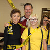 From left, Cathy Donohue, Don King, SaDee Olson and Mariah Gaston pose in the NPAC before the Haunted Trails 5K Run/Walk. (Photo by Tena L. Cook/Chadron State College)