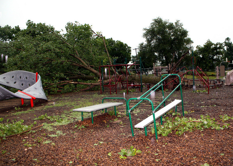 This playground equipment was new last fall at Central Grade School.  Looks like they will get new equipment again this year.