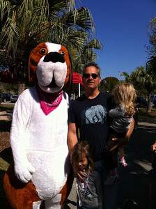Buddy with some fans at the Canine Carnaval at Tropical Park.