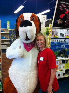 PetSupermarket Customer Appreciate Day on March 26, 2011.  Buddy with Gail, the VP of Paws 4 You Rescue