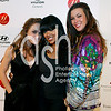 Actress Meagan Good (C) and Born Uniqorn designers and Taryn Manning