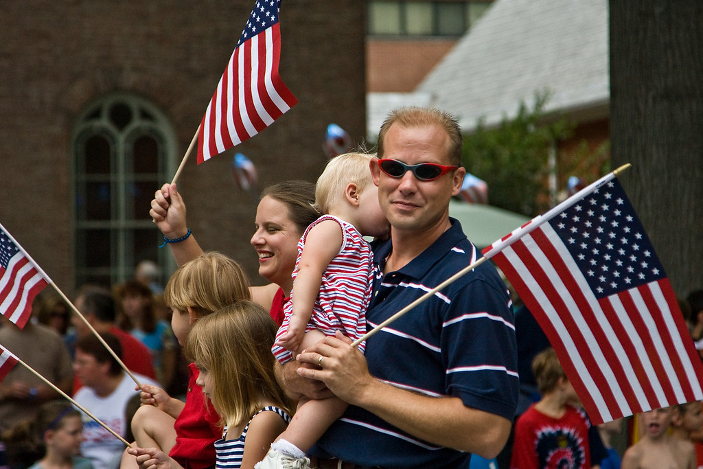A local city councilman and his family participate in the 2008 Havre de Grace, MD Independence Day Parade
