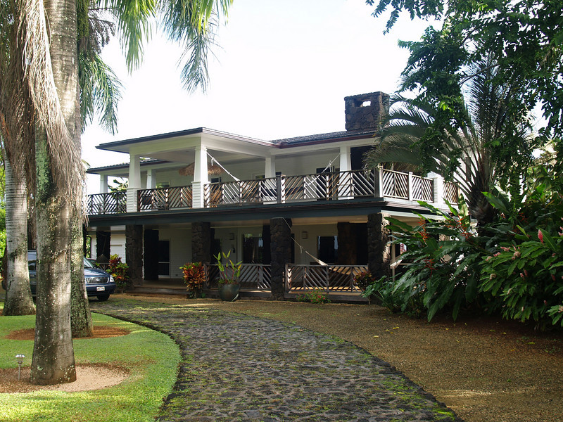 Monday, December 3, The house we rented in Princeville, on the north coast of Kauai.