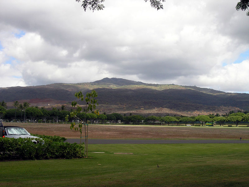 A view of Puu Kapuai, from the Marriot resort town of Ko Olina