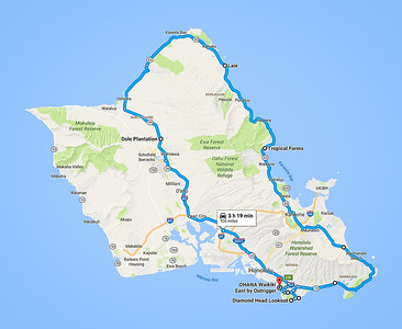 Approximate tour route
