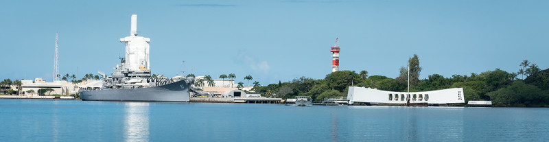 The USS Missouri and the USS Arizona Memorial