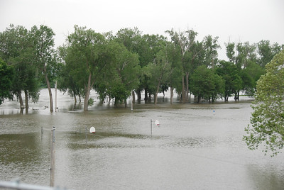 Last year, floodwaters were up to the bottom of the nets on the basketball hoops.