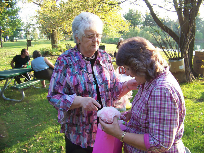 """Our precious Pastor's wife has been diagnosed with cancer and we are still uncertain about all the details. She is going to mayo clinic on Monday and we would covet your prayers for her and her family.<br />  Marilyn brought Dianne a little """"cancer"""" bear as an encouragement and it is so cute."""