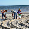 Creating the Sand Labyrinth