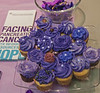 PURPLE IS THE COLOR FOR PANCREATIC CANCER<br /> <br /> Purple mini cupcakes from Ruby K's. Hard to resist...