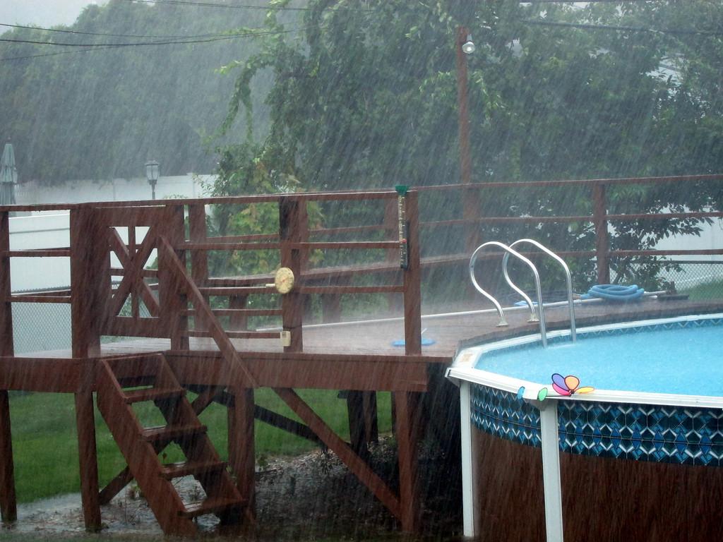 """Nearly 3"""" rain in 30 minutesnot good"""