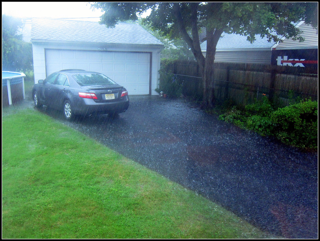 Driveway too - also some water in basement :(
