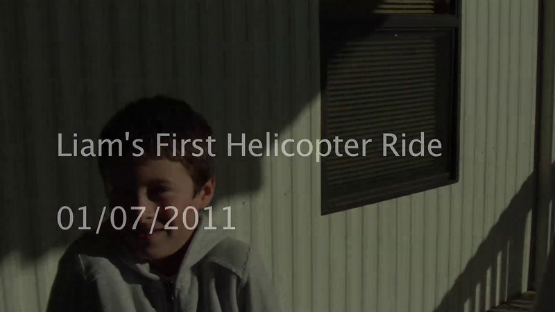 Liam's Helicopter Ride