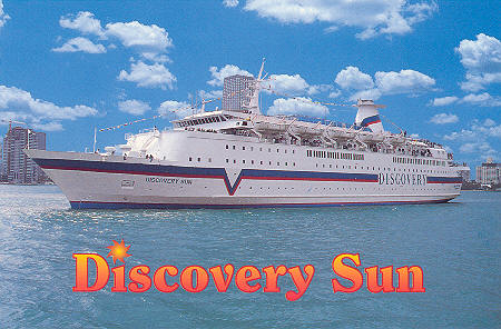 The Discovery Sun ship we took to Freeport