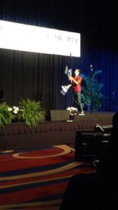 Opening night at NHF: a magician and juggler.
