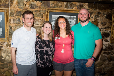 Brian Koss '08, Cary (Small) Koss '08, Amelia (Wildenborg) Barnes '11, and BJ Fogleman '10
