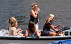 Spectators in a boat at Henley regatta July 2008