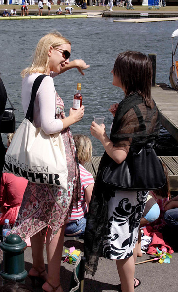 Young female spectators at the Henley Regatta July 2008