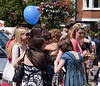 Young female revellers at the Henley Regatta July 2008