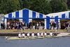 Canoe and tents at Henley Regatta July 2008