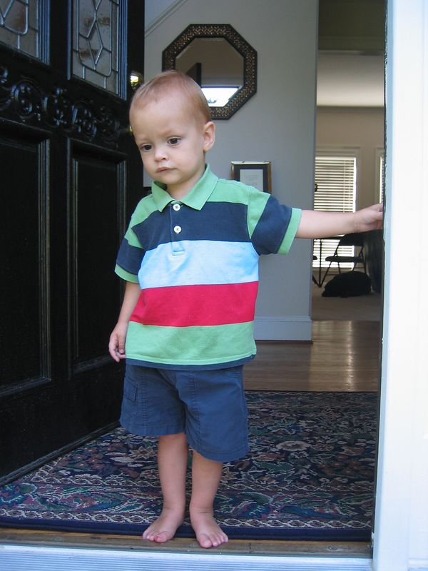 Henry was not too sure of the frog that his brother and sisters caught.  He liked to watch from a distance.