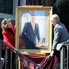 The portrait of T.K. Wetherell painted by artist Edward Jonas is revealed at Florida State University's Heritage Day celebration held on February 17, 2010 outside of the Westcott Building.
