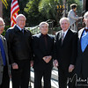 Former FSU Presidents stand with Eric Barron at Florida State University's Heritage Day celebration held on February 17, 2010 outside of the Westcott Building.