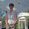 Former Live Oak CRA Director Shannon Ventry was on hand at the information booth.