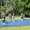 Local cheerleaders showed off their moves.