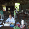 Suzanne Marcil in the art barn.