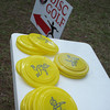 Jiffy Food Stores gave out free flying discs for those wanting to try their hand at disc golf.