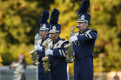 """Platt High School Marching Bands performs their program called """"Stonehenge"""" Saturday during the USbands Halftime all the Time Show at Falcon Field in Meriden September 15, 2018 