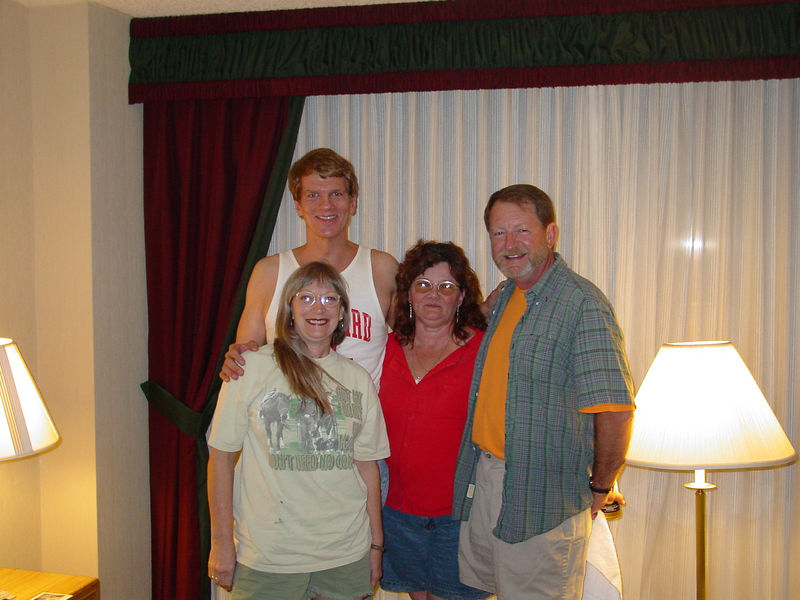 "Pete Blackledge's  hotel room 10/20/05.<br /> The Sandra Dee Memorial Beach Blanket Bingo Party (the ""Lamar Beach Ball"")."