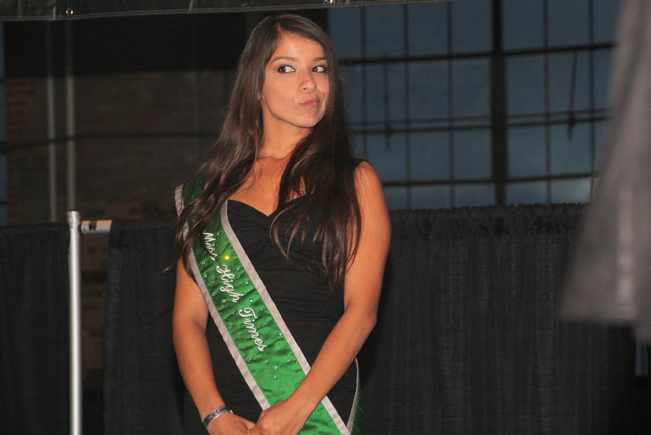 A mistress of ceremonies for High Times Magazine helped present the awards.