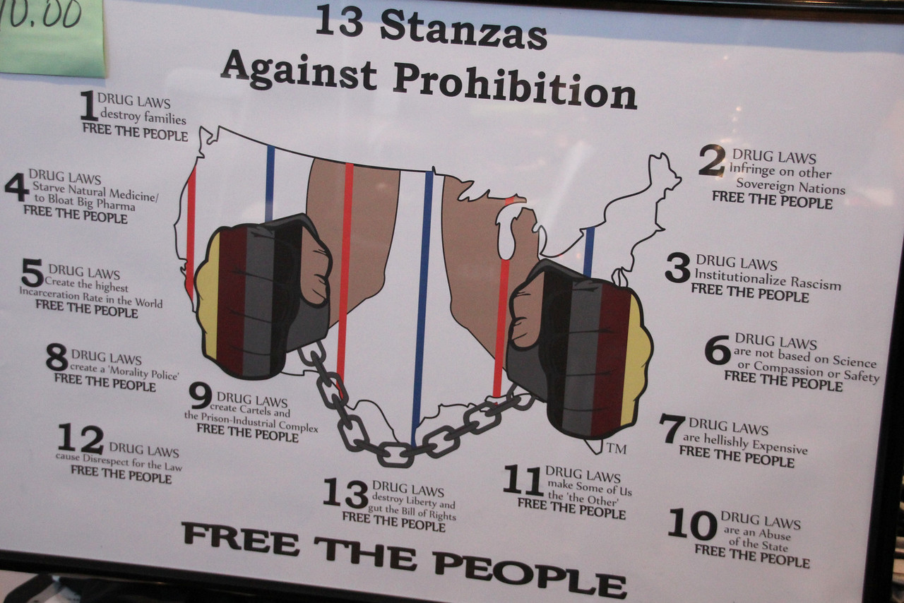 The 13 Stanzas Against Prohibition shown during last weekend's Cannabis Cup.    To learn more, see: https://www.facebook.com/pages/Humito-Collective/414641585301815
