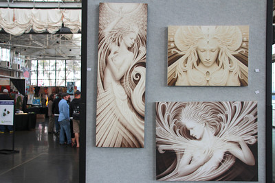 Some of the art pieces on display.
