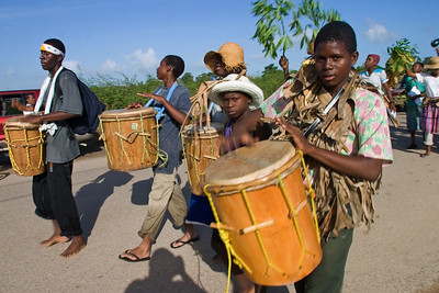 Drummers in celebration on November 19th, Garifuna Settlement Day
