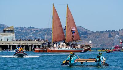 9/16/18 1:05:36 PM- Hikianalia: The Alahula Kai O Maleka California Voyage at Aquatic Park in San Francisco, CA  All rights reserved. Photograph by Chris M. Leung 2018 for the Polynesian Voyaging Society